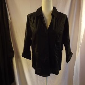 Riders' Lee Easy Care Black Button Up Shirt/XL